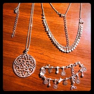 Necklaces and anklet